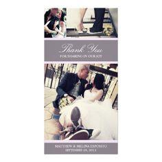 CHIC LILAC GRATITUDE   WEDDING THANK YOU CARD