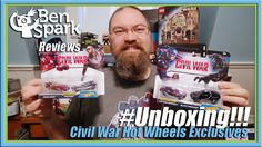 #Unboxing - Hot Wheels Marvel Civil War Exclusive Falcon and Captain America Character Cars  Today I #unbox some Hot Wheels Character cars from Captain America Civil War as well as an Elektra Character car. I found two two packs with exclusive repaints of Falcon and of Captain America. The Captain America/Black Panther two pack depicts a scratched up Cap muscle car. The Iron Man vs. Falcon Two pack depicts a Falcon car in his Civil War costume.