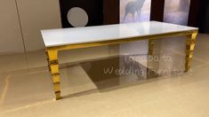 New design MDF top wedding table Stainless Steel Table, Black Glass, News Design, Wedding Table, Entryway Tables, Luxury, Top, Furniture, Home Decor