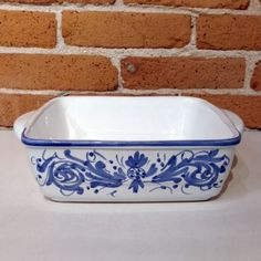 Campagna Blue Baking Dishes - Italian Pottery Outlet Baking Dishes, Italian Pottery, Rustic Design, Cobalt Blue, Hand Painted, Handmade, You Are Wonderful, Hand Made, Cobalt