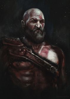 Kratos - God of War, Michael Smirnov on ArtStation at https://www.artstation.com/artwork/XbE8R
