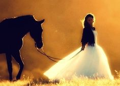 Love the horse, and the dress!