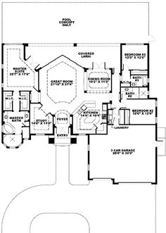 ***Wow***Window Wall Mediterranean Home (HWBDO68772) | Florida House Plan from BuilderHousePlans.com