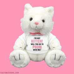 Ask her to prom with this cute promposal kitty cat plush gift. #prom #promposal #prompossibilities #plush