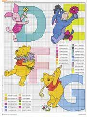 Schema punto croce Winnie D-e-f-g