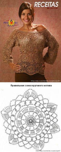 La blusa del color kapuchino