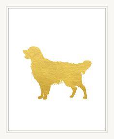 Golden Retriever Art Print 8x10. Pet Printable. Dog Wall Art Decor. Home Art Print. Instant Download Digital File. Item No.:144