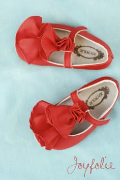 More Joy Folie shoes! Can a baby girl have too many? These are called persimmon ruffle! YESSSSSSS!