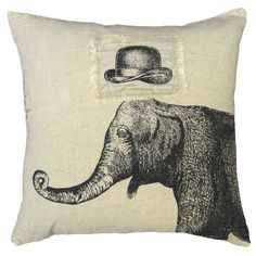Sugarboo Designs Hat & Elephant Pillow