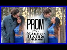 PROM 2015: Makeup, Hair & Dress ♡ - YouTube