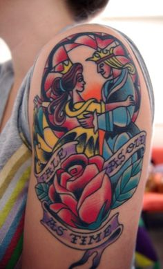 My absolute favorite Beauty and the Beast/ Disney themed tattoo