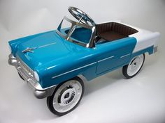C And N Aqua and White 55 Classic Pedal Car 55A - Listing # 31 - Toy Auction To Buy And Sell Toys And Baby Products