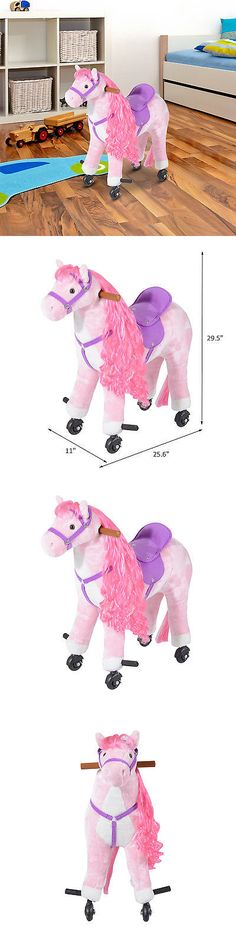 Rocking Horses 19024: Rocking Ride On Horse Toy Plush Walking Pony Kid Children Gift W Neigh Sound -> BUY IT NOW ONLY: $99.99 on eBay!