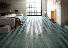 Have you thought about adding #design touch to your home with colored hardwood #flooring? http://interiorzine.com/2016/03/17/wave-sea-green-wood-flooring-by-cora-parquet/