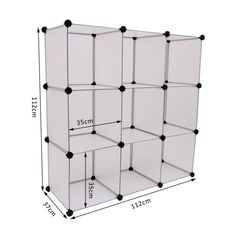 Interlocking Cube Organizer Plastic Shoe Rack Storage Display Stand Toys Clothes