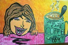 """""""Café"""" Pintura con acrílicos. Martina G."""