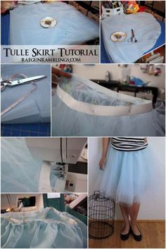 Step by step instructions for making a cute tulle skirts #sewing #tulleskirt #diyskirt #diyfashion #fashion #diy #sewingprojects #tutorial