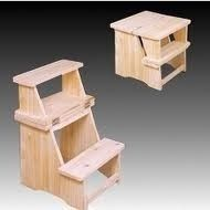 banco escalera multiuso p cocina dormitorio madera pino