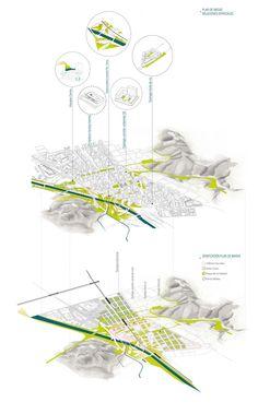 Concurso Público Internacional de Urbanismo y Paisajismo Centro Cívico de Medellín / Segundo Puesto componente B -