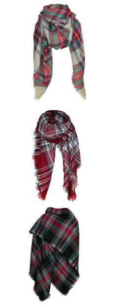 Fall is just around the corner! Get your fall wardrobe ready with these plaid blanket scarves!