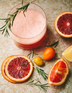 Rosemary No.3: gin, Aperol, sweet vermouth, blood orange juice, lemon juice, rosemary, superfine sugar, egg white | Familystyle Food