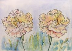 Watercolor with pen and ink by Helena Kuttner-Giasson