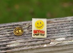 Wal-Mart Better Every Day Smiley Face Metal & Enamel Employee Pin Pinback