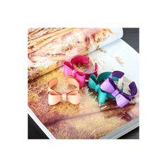 Acrylic Bowknot Cuff Bracelet Large Bow Cuff Bangle Purple ($4.95) via Polyvore
