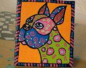 The A to Z Dog Portrait Project: Handmade original mixed media dog portraits.