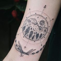 50 Good, Bad, And Questionable Nature Tattoos For People Who Love Hiking In The Great Outdoors