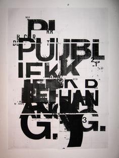 Tipografía como imagen + Composición