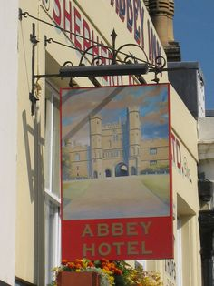 Abbey Hotel sign