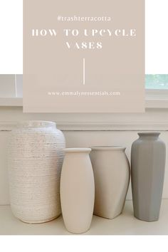Diy Crafts For Home Decor, Diy Home Decor On A Budget, Diy Painted Vases, Vases Decor, Vase Decorations, Diy Projects To Try, Spray Paint Projects, Vase Crafts, Idee Diy