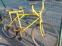 Strange yellow bike