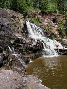 Gooseberry Falls State Park - on Minnesota's North Shore of Lake Superior Gooseberry Falls, Great Lakes Region, Pool Waterfall, Lake Superior, North Shore, Historical Sites, The Great Outdoors, State Parks, Adventure Travel