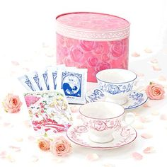 The-Rose-of-Versailles-Tea-Cup-Saucer-2-set-Tea-Postcard-Riyoko-Ikeda-JAPAN-F-S