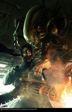Soldier vs. Alien - Charles Schneck
