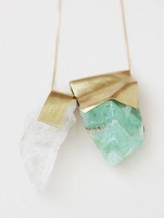 nallik green citrine/quartz pendant.