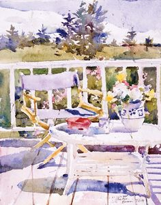 Charles Reid is a wizard with watercolor.  I'd love to take one of his courses - maybe next year. http://www.charlesreidart.com/