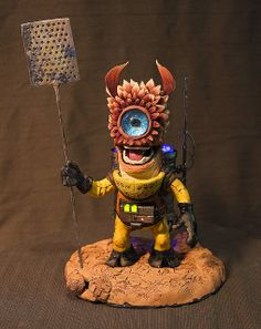 Polymer clay sculptures and sculpts- #creatures #monsters and other #clay and #polymer creations - liked by #unwoundfx