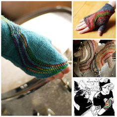 Knit Either/Or Fingerless Mitts/Full Mitts Designed by @leethal #knit #knitting #ElliottSmith