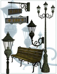 Victorian Street Props in Places and Things,  3D Models by Daz 3D