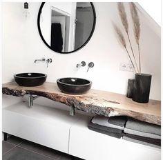 Badezimmer mit dusche Modern, minimalist bathroom with walk-in shower - New Ideas Your Own Home Inte Black Sink, Black Vase, Bathroom Goals, Bathroom Ideas, Bathroom Remodeling, Bathroom Organization, Remodeling Ideas, Remodel Bathroom, Shower Remodel