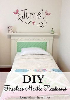 Mantels aren't just for fireplaces - check out this amazing DIY headboard project.