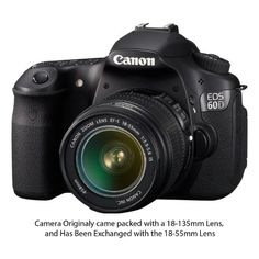 Canon EOS 60D 18 MP CMOS Digital SLR Camera with 3.0-Inch LCD & 18-55mm f/3.5-5.6 IS Zoom Lens - List price: $1,799.95 Price: $899.00