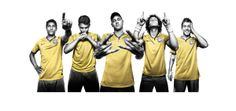 Brazil Team for World cup 2014 wallpaper in cartoon - free download