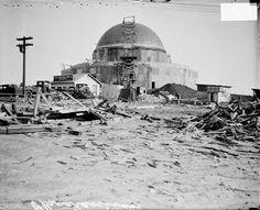 The Adler Planetarium under construction in 1929.