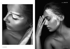 Photography by Dennis Wernersson for Institute Magazine. White Paint. Makeup.