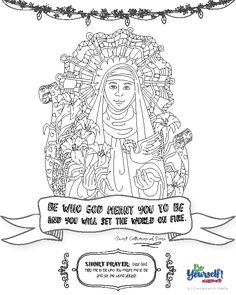 st catherine of siena coloring page - mary mackillop craft vbs 2017 pinterest mary crafts