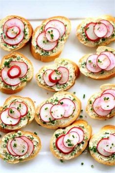 Radish-Chive Tea Sandwiches   33 Delicious No-Cook Dishes To Bring To A Holiday Party